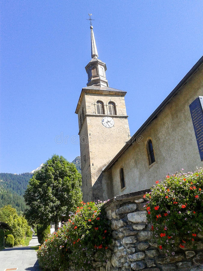 Free The Church In Contamines-Montjoi, France Royalty Free Stock Photography - 63264407