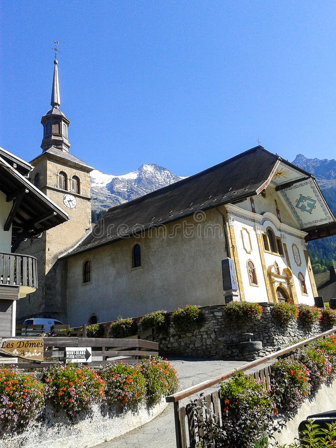 Free The Church In Contamines-Montjoi, France Stock Photo - 63265350