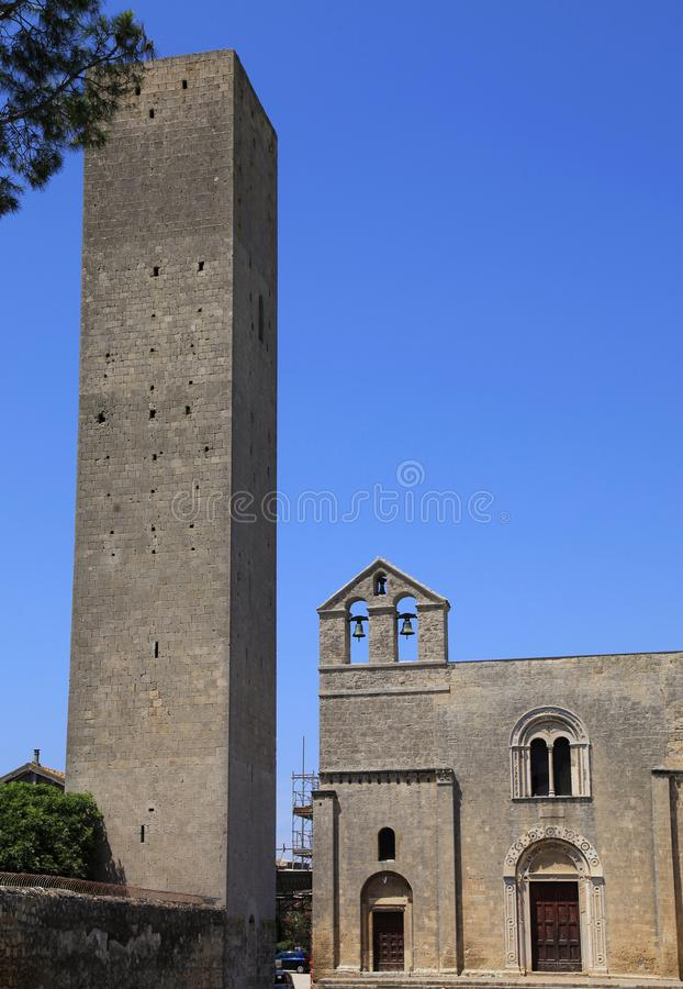 Free The Church Of Santa Maria Di Castello, Tarquinia, Italy Royalty Free Stock Photography - 101197167