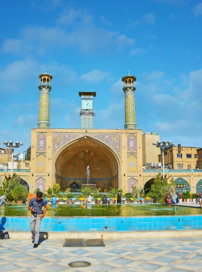 Free The Clock Tower Of Shah`s Mosque, Tehran Stock Photos - 103940743