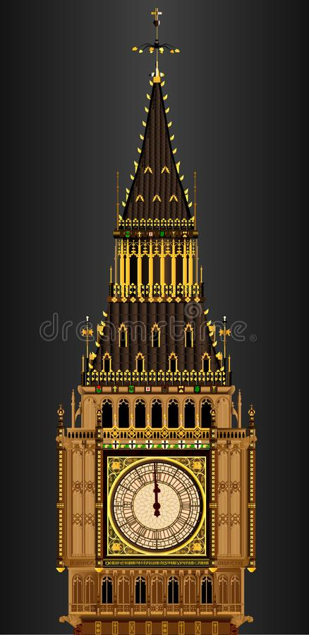 Free The Clocktower Of Big Ben Almost Striking Midnight Royalty Free Stock Photography - 116879417