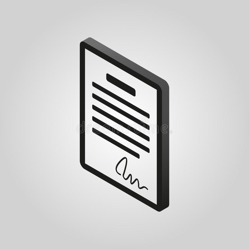 Free The Contract Icon. Agreement And Signature, Pact, Accord, Convention Symbol.3D Isometric. Flat Vector Stock Image - 79787121