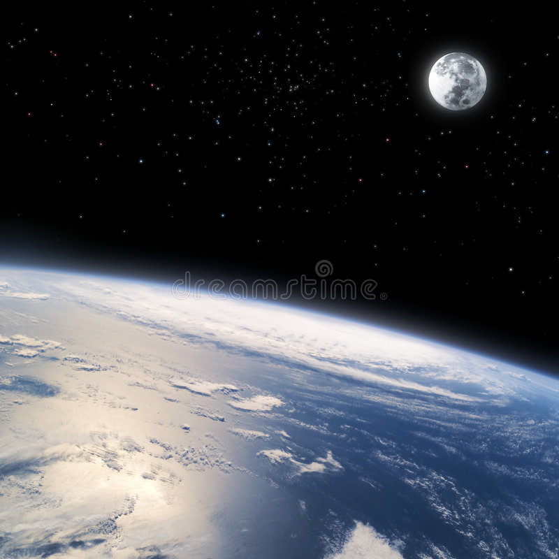 Free The Curved Horizon Of Earth From Space Royalty Free Stock Photo - 8674095