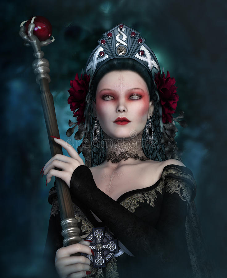 Free The Dark Sorceress, 3d CG Stock Photo - 60550380
