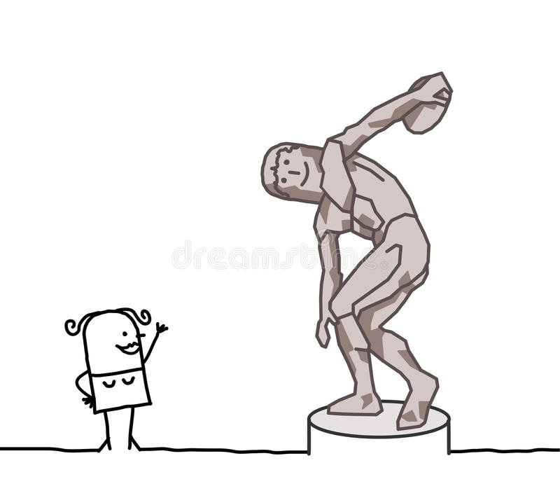Free The Discus Thrower Parody Stock Photography - 18443732