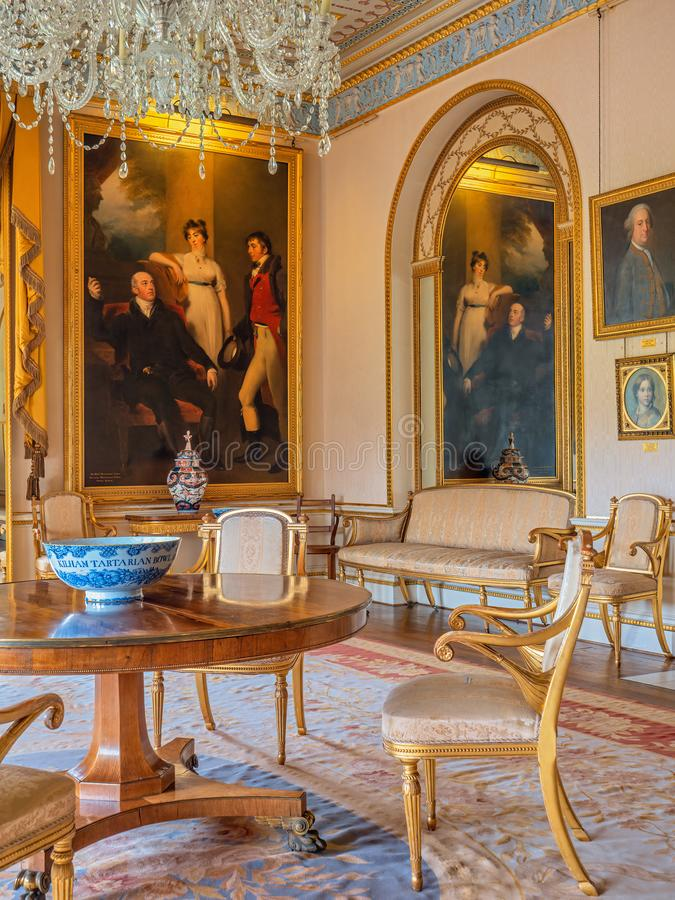 Free The Drawing Room, Sledmere House, Yorkshire, England. Royalty Free Stock Image - 152842136
