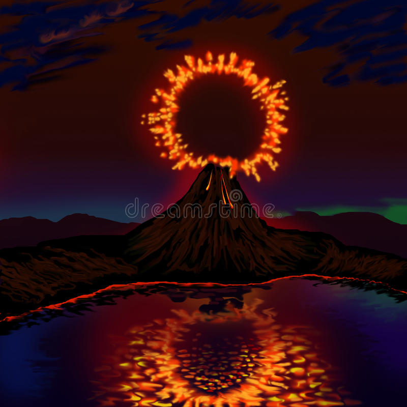Free The Explosion Of The Volcano Royalty Free Stock Images - 96255149