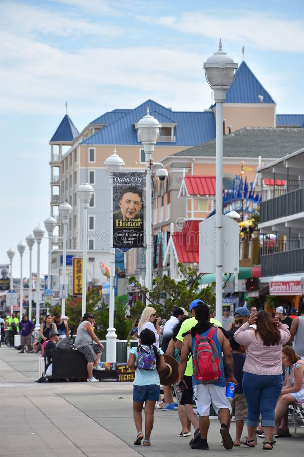 Free The Famous Boardwalk In Ocean City, Maryland Stock Image - 99187801