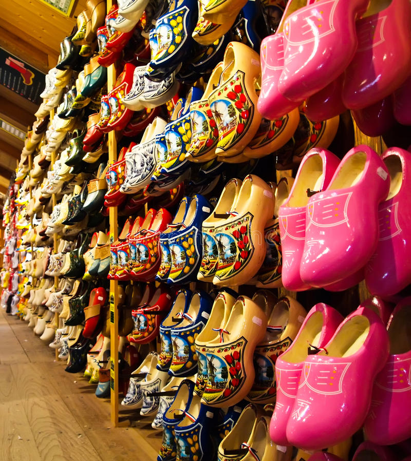 Free The Famous Dutch Wooden Shoes For Sale Royalty Free Stock Photos - 21202788