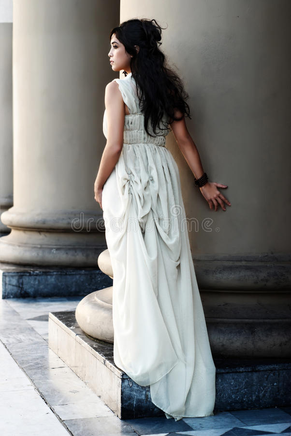 Free The Fine Young Girl With A Light Dress. Royalty Free Stock Photo - 10246655