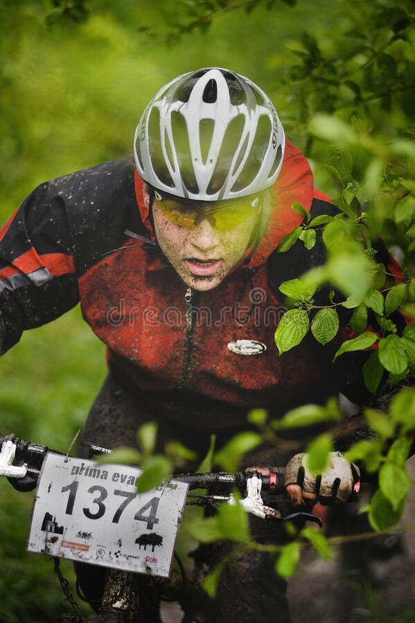 Free The First Escape, Mountain Bike Contest Held In Romania 2011 Royalty Free Stock Photo - 175121095