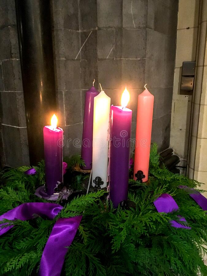 Free The Five Candles Of Advent Stock Photos - 176066093