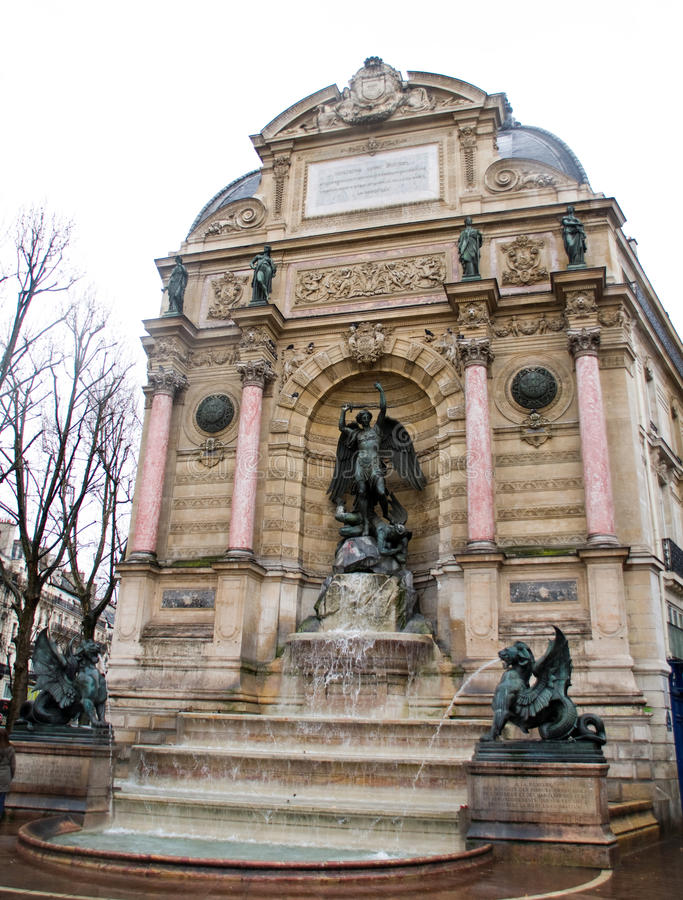Free The Fontaine Saint-Michel In The Place Saint-Miche Stock Image - 10757721