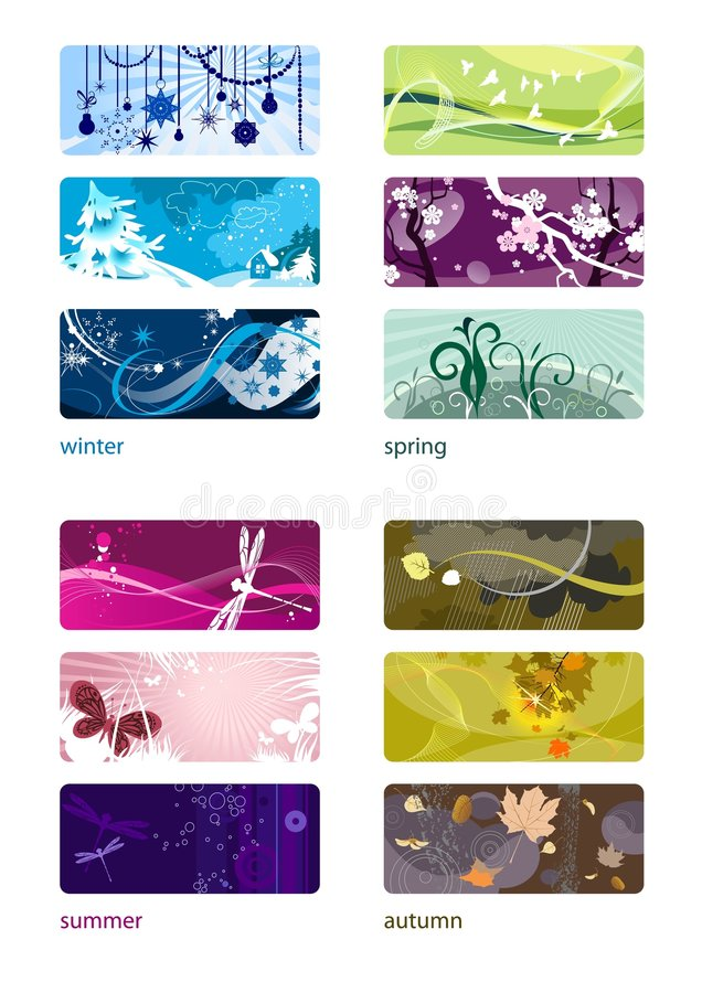 Free The Four Seasons Stock Photography - 7219592