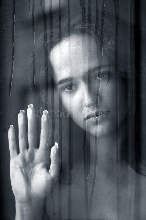 Free The Girl Behind Glass Stock Photo - 682510