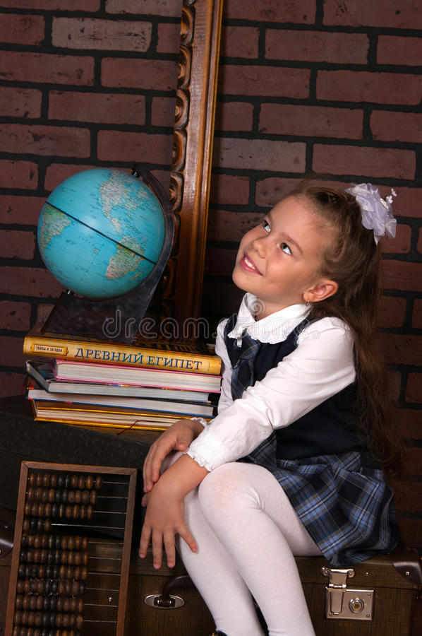 Free The Girl In A School Uniform Stock Images - 47928814