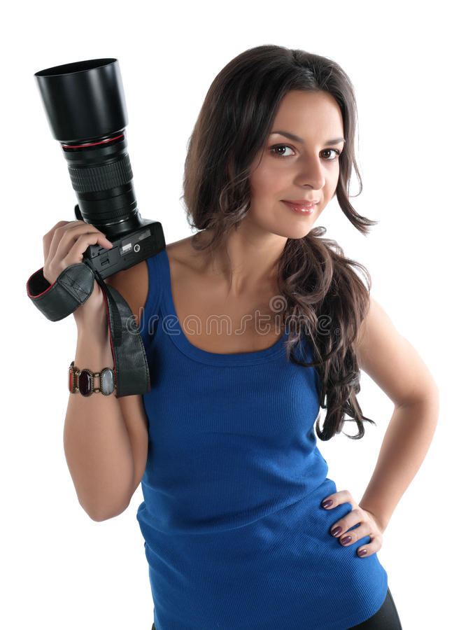 Free The Girl The Photographer Royalty Free Stock Photography - 12527197