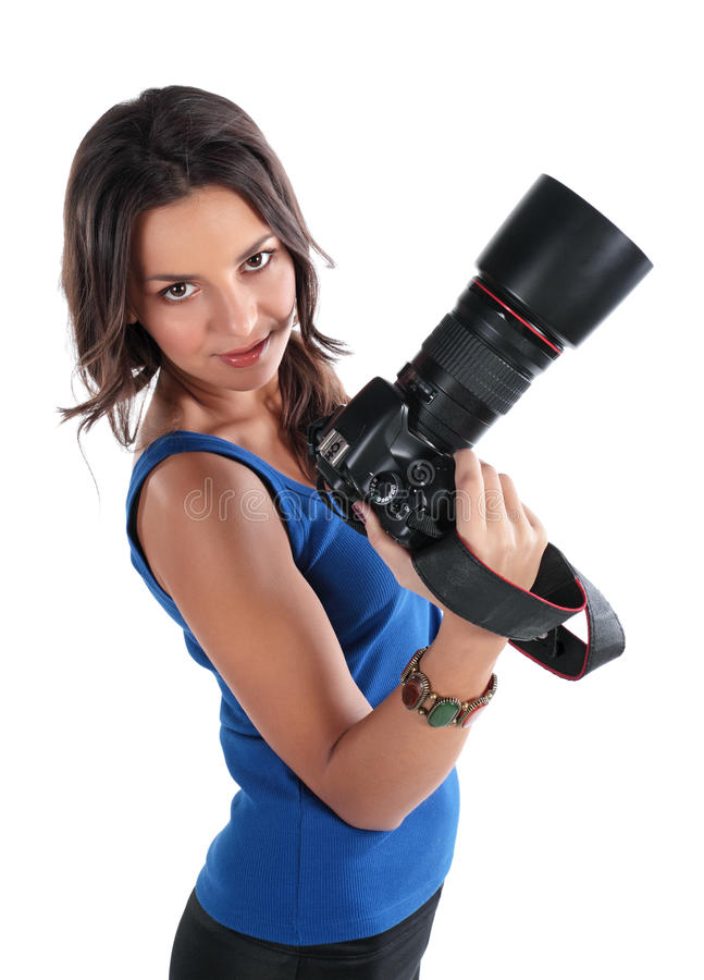 Free The Girl The Photographer Royalty Free Stock Image - 12541016