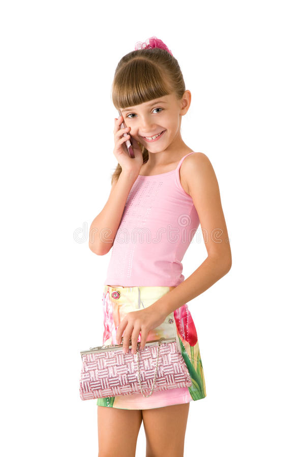Free The Girl With A Pink Handbag Royalty Free Stock Photography - 16525477
