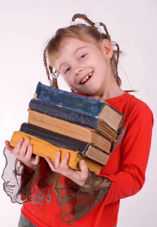 Free The Girl With Books Stock Image - 2258241