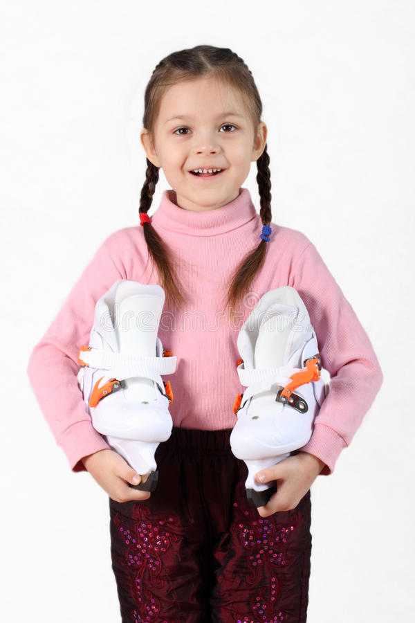 Free The Girl With Skates Stock Photography - 13366532