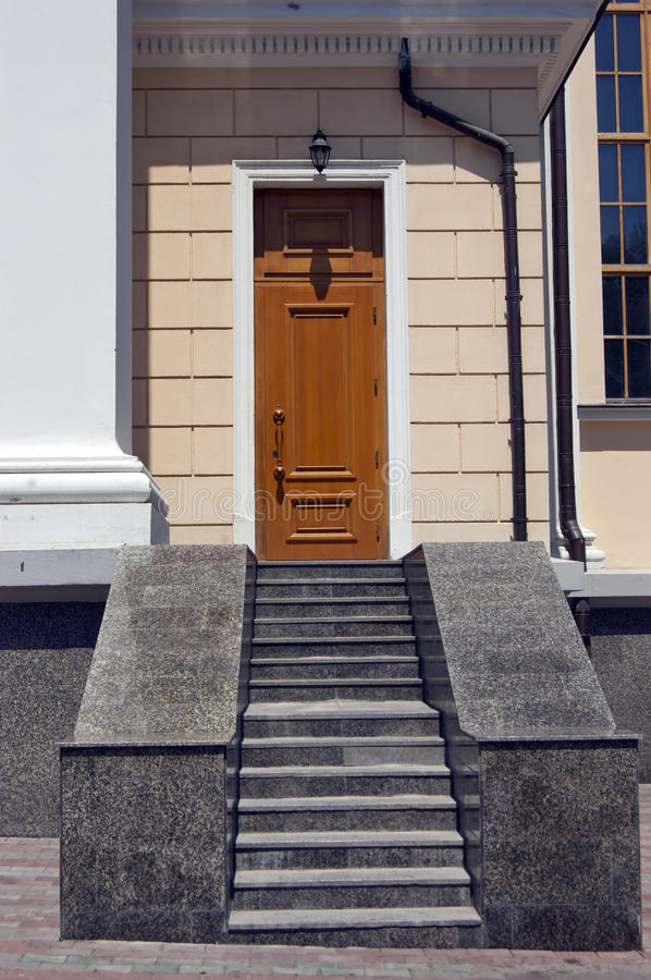 Free The Granite Staircase From The Entrance Door Stock Image - 20164111