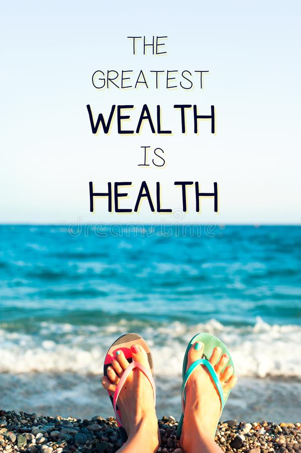 Free The Greatest Wealth Is Health. Motivational Inspirational Quote. Royalty Free Stock Photos - 108908028