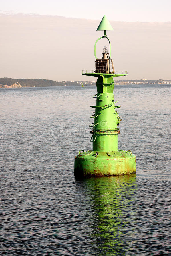 Free The Green Buoy On The Water Royalty Free Stock Image - 20998916
