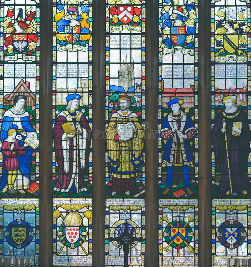 Free The Guild Chapel Stained Glass Window Royalty Free Stock Photos - 143782568