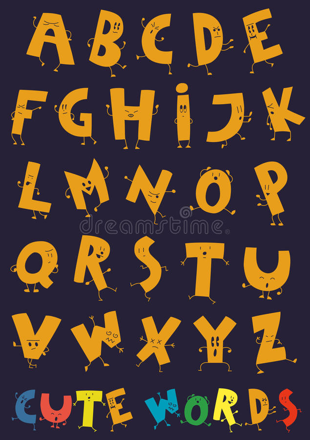 Free The Happy Letters Of The Alphabet Royalty Free Stock Photos - 27864398