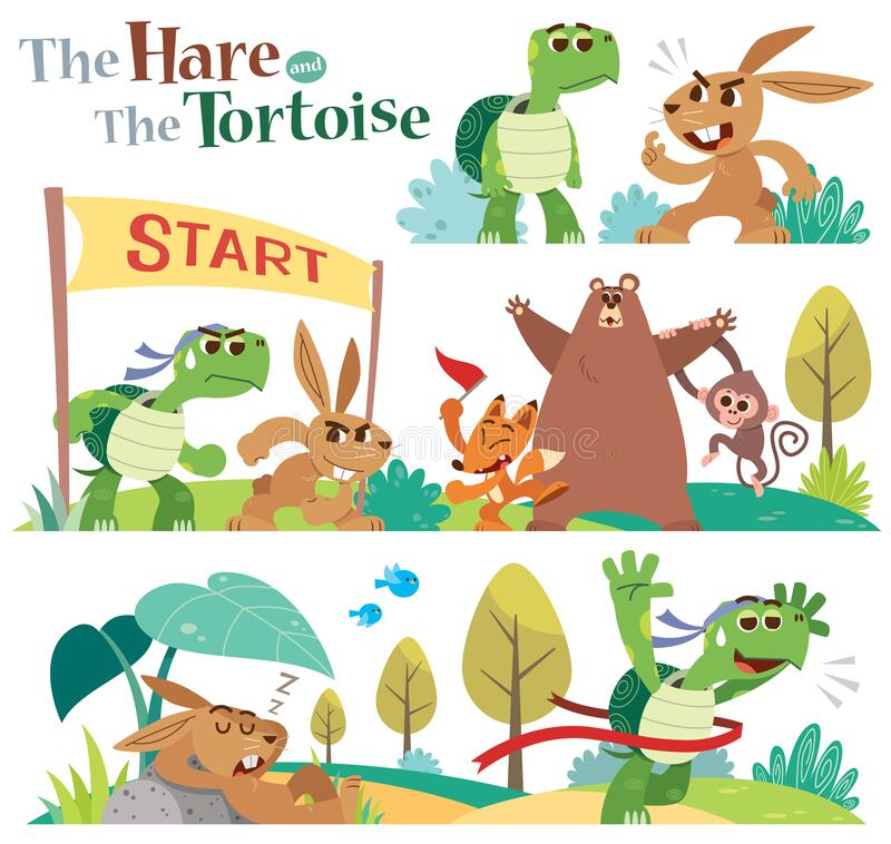 Free The Hare And The Tortoise Stock Photography - 192060892