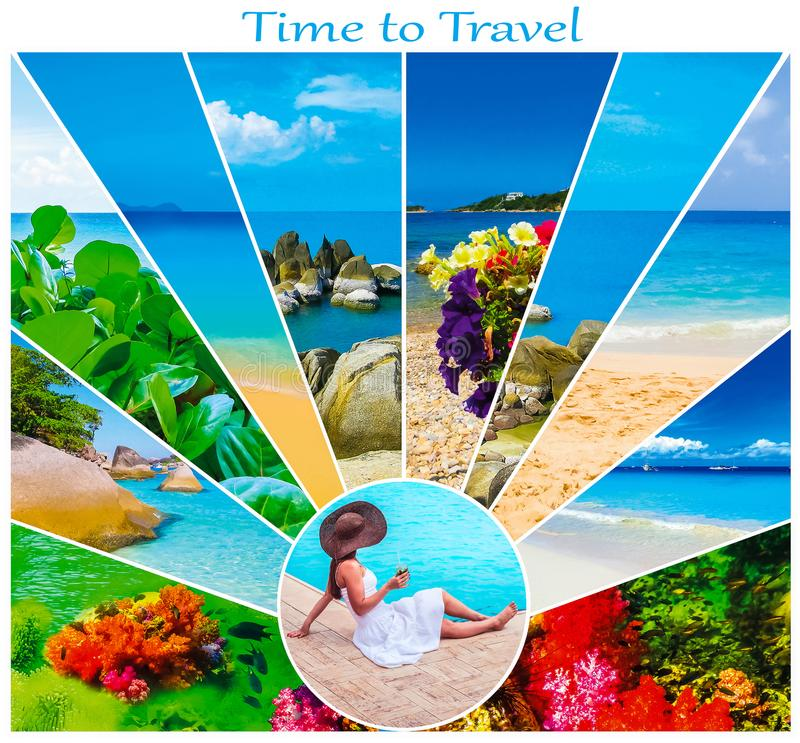 Free The Holiday Time, Summer, Beach, Travel, Vacation, Sea Concept Royalty Free Stock Images - 109853259