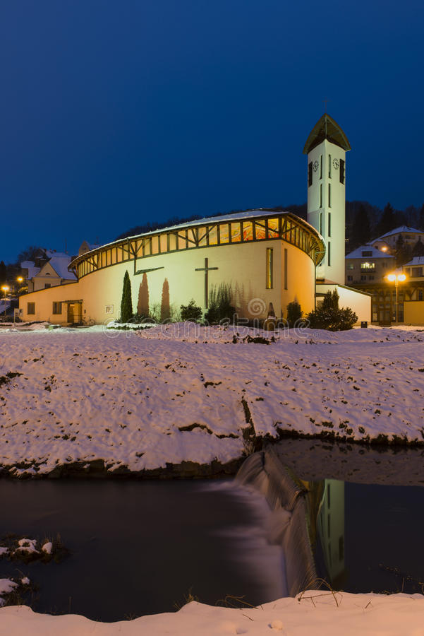 Free The Holy Family Church In Luhacovice Spa Town Stock Images - 50853754