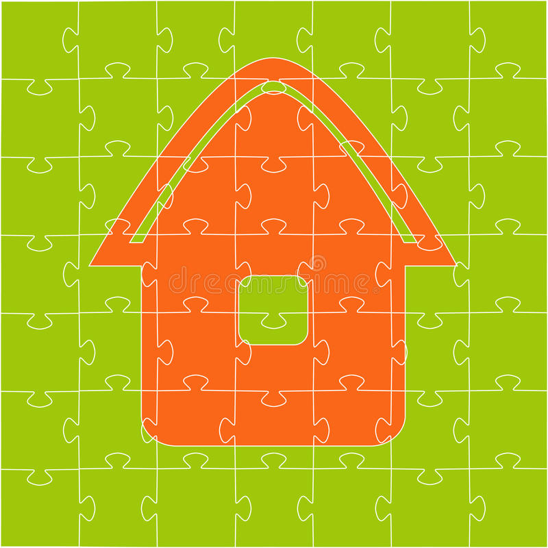 Free The House Collected From Puzzles Stock Photography - 14250112