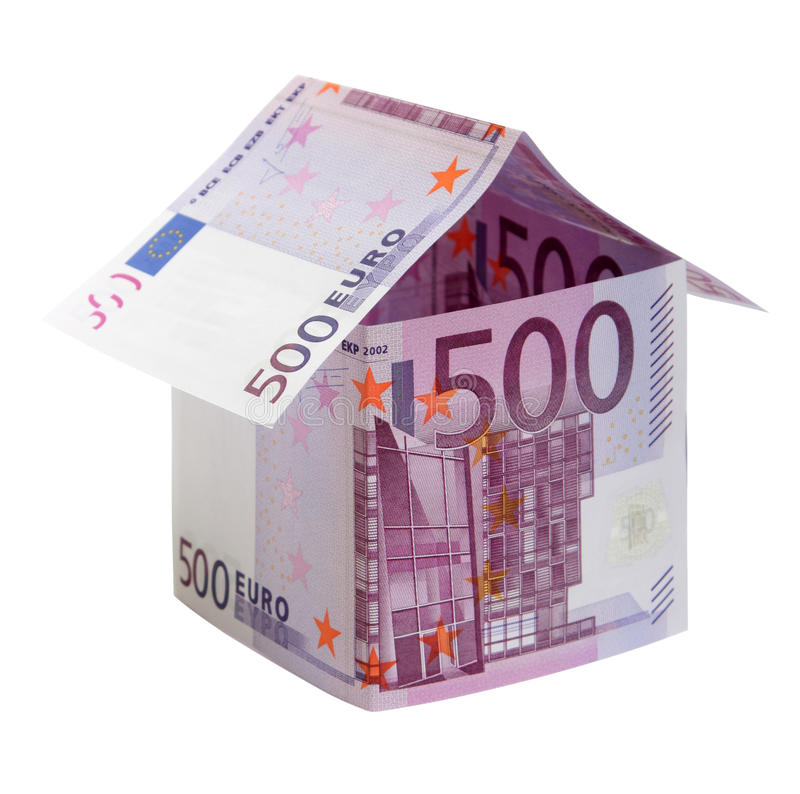 Free The House Made Of 500 Euro Banknotes Royalty Free Stock Photo - 13456425