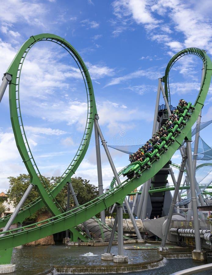Free The Incredible Hulk Coaster Royalty Free Stock Image - 80691086