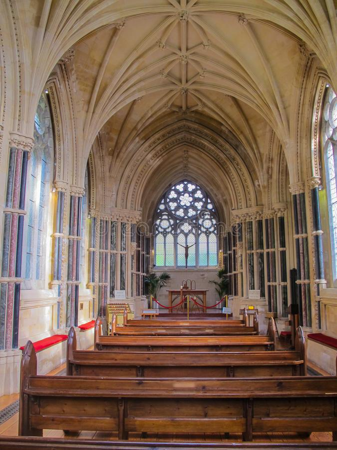 Free The Interior Kylemore Neo Gothic Church At Kylemore Abbey Royalty Free Stock Image - 117537696