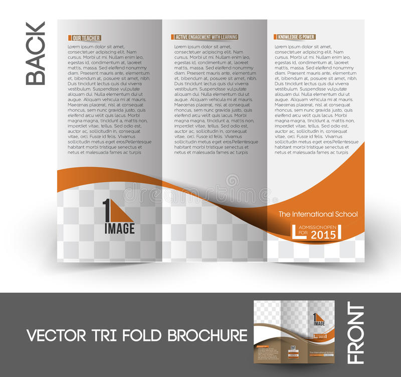 Free The International School Tri-Fold Brochure Royalty Free Stock Images - 53385319