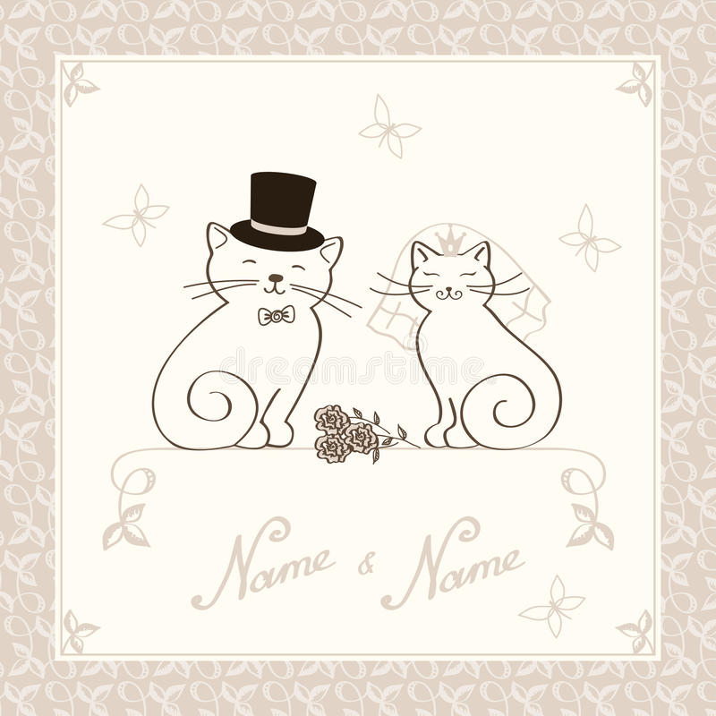 Free The Invitation With Kittens Royalty Free Stock Photo - 27440585