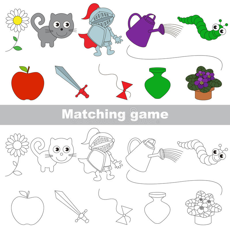 Free The Kid Game To Find Relevant Pair Of Objects. Stock Images - 90143484