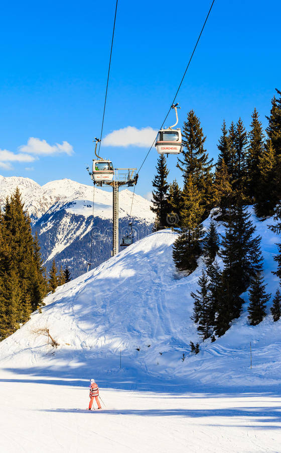 Free The Lift In The Ski Resort Of Courchevel, Alps Royalty Free Stock Photography - 75906477