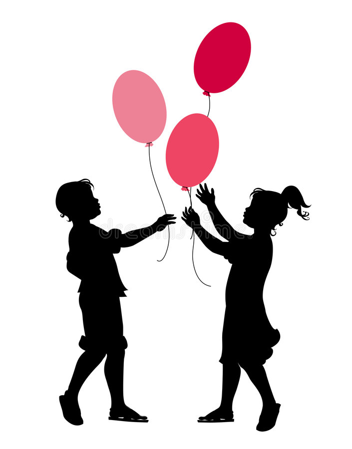 Free The Little Boy And Girl Playing With Balloons Royalty Free Stock Photos - 7892768
