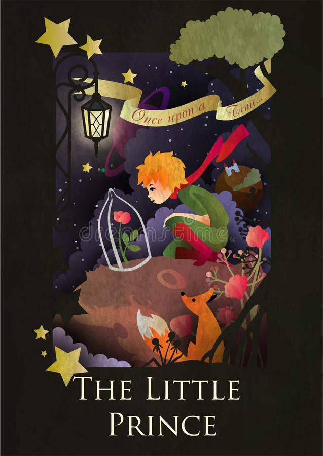 Free The Little Prince, The Rose Under The Glass Globe And The Fox Stock Image - 115277101