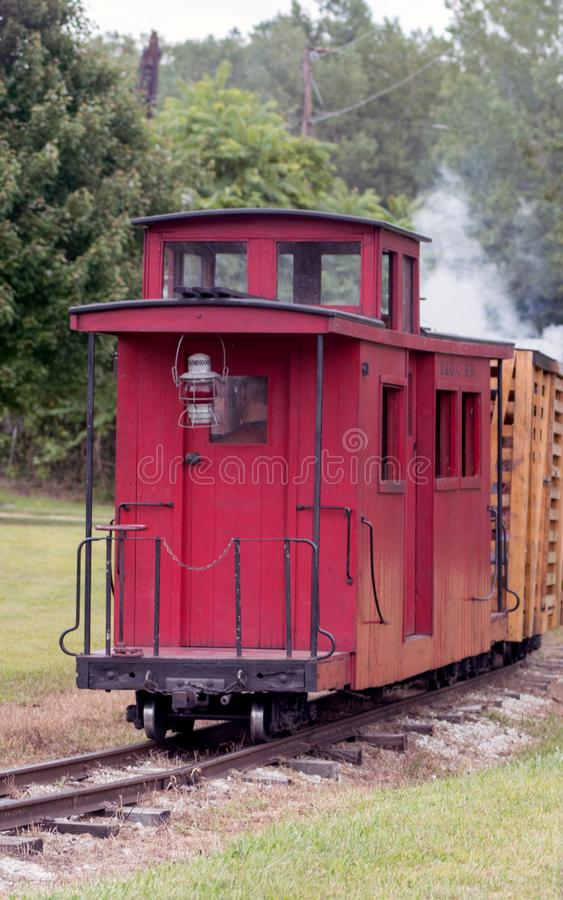 Free The Little Red Caboose On Train Tracks Royalty Free Stock Images - 159717219