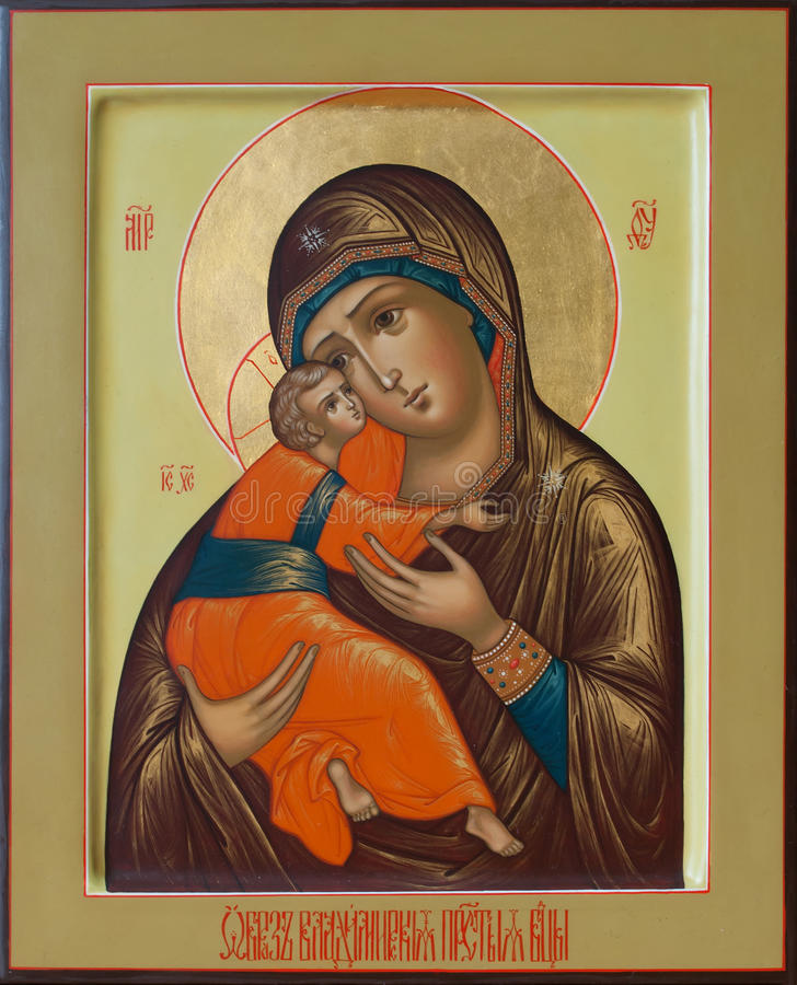 Free The Lord Jesus Christ And The Holy Mother Of God Of Vladimir Stock Photo - 58701680
