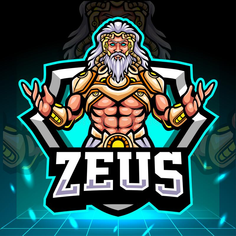 Free The Lord Of Zeus Mascot. Esport Logo Design Royalty Free Stock Photography - 214814737