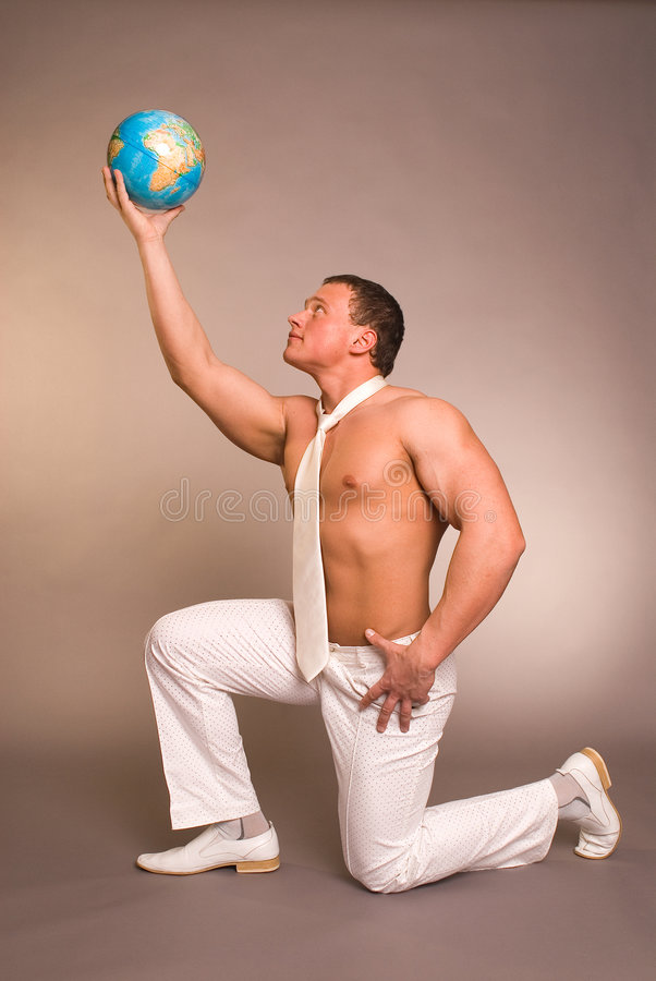 Free The Man With The Globe Stock Photography - 2199412