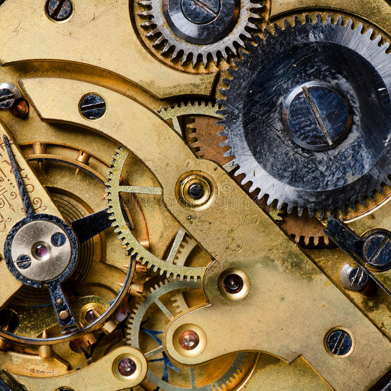 Free The Mechanism Of An Old Watch Royalty Free Stock Images - 23990339