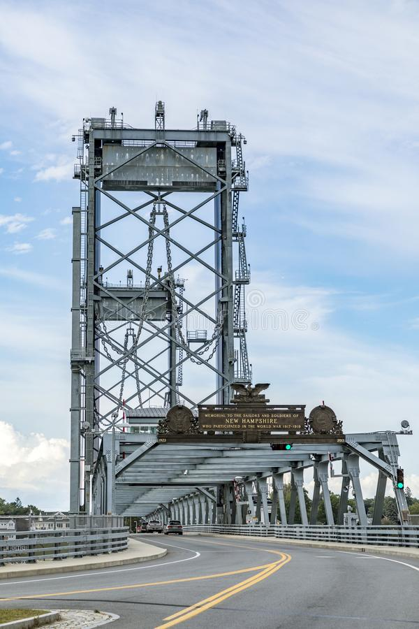 Free The Memorial Bridge Over The Piscataqua River, In Portsmouth, W Royalty Free Stock Photos - 104349428