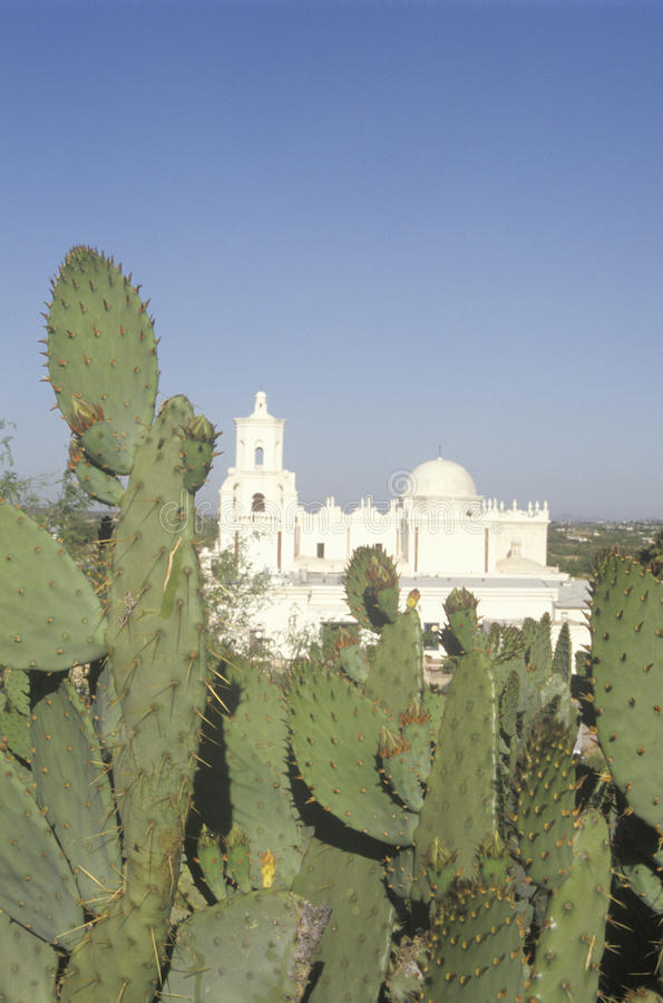 Free The Mission San Xavier Del Bac Was Erected Between 1783 And 1897 In Tucson Arizona Royalty Free Stock Images - 52313929